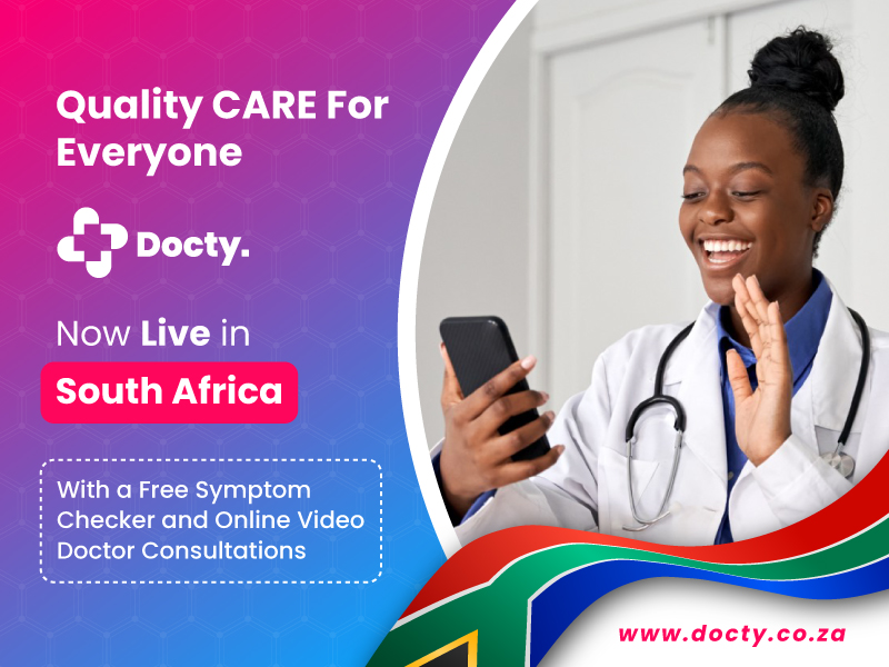 Docty South Africa, Online Doctor Consultation, Online Doctor Appointment, Telemedicine, Telehealth, Doctor Consultation, Doctor at home, at home consultation